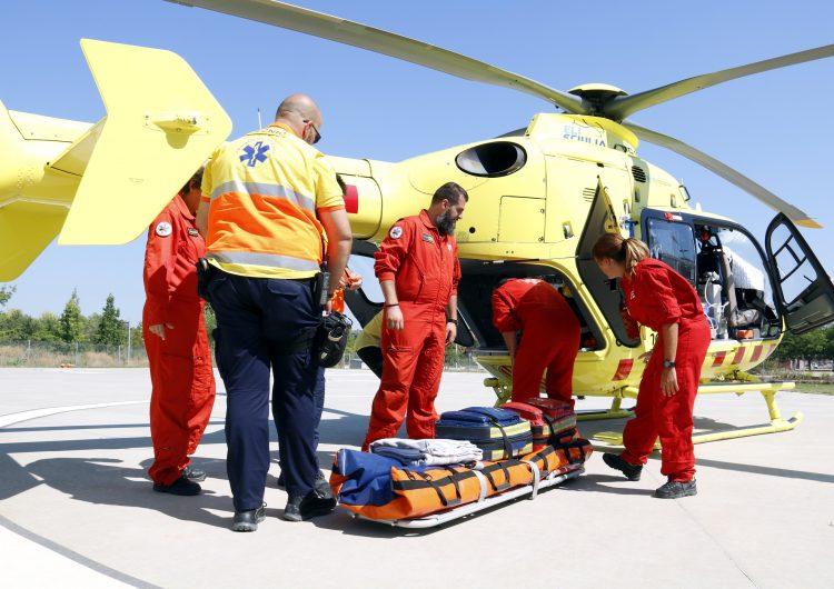 La demarcació de Lleida és on l'helicòpter nocturn del SEM ha fet més serveis en el primer any de funcionament