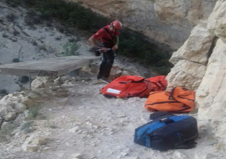 Rescaten un excursionista accidentat al Congost de Mont-rebei