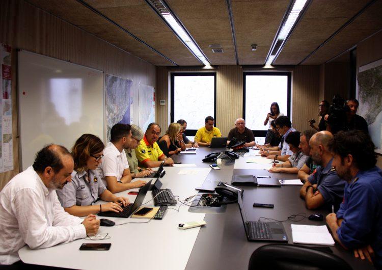"""Protecció Civil reclama """"prudència i responsabilitat"""" pel risc d'incendi per la calor d'avui i el vent de dilluns"""
