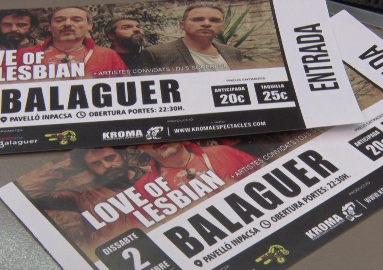 Lapallavacara ja disposa d'entrades pel concert de Love of Lesbian a Balaguer