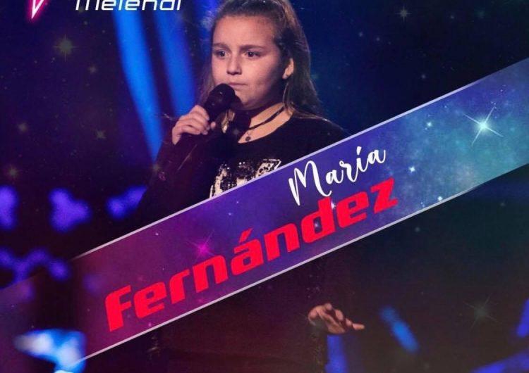 """La balaguerina Maria Miss Sweety a l'equip de Melendi a """"La Voz Kids"""""""