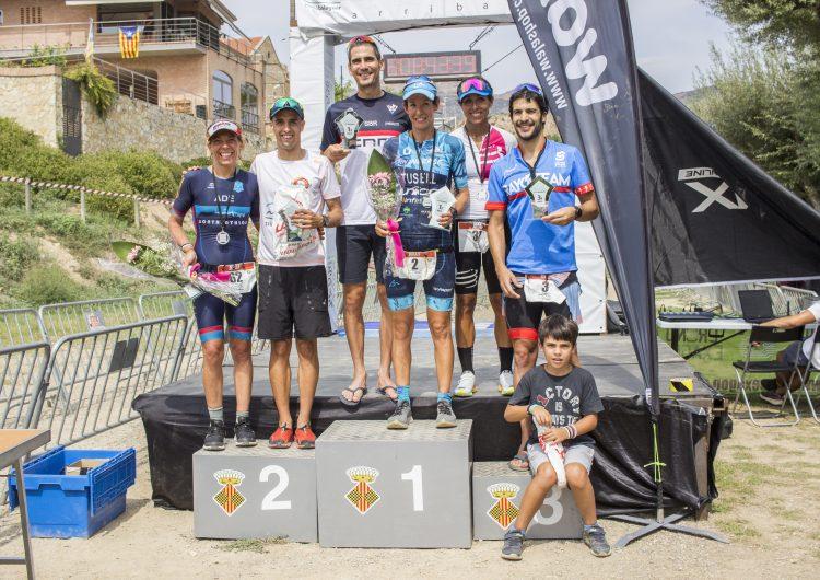 Albert Jiménez i Mercè Tussell  guanyen el Triatló Internacional de Balaguer