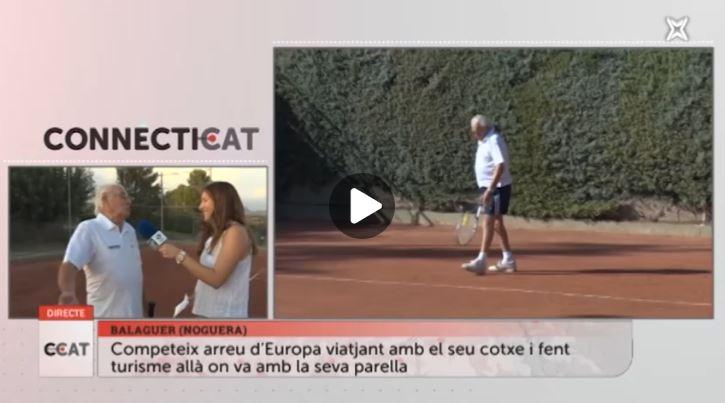Connecti.cat: Antonio Carreño, millor tennista major de 80 anys de l'Estat espanyol