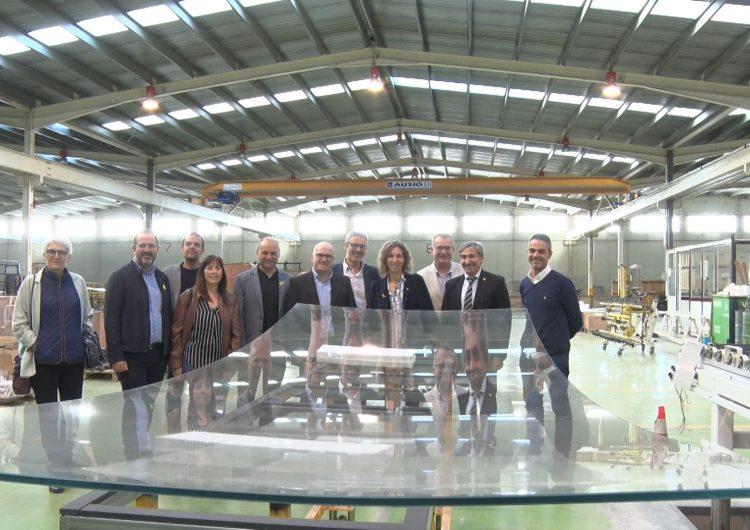 Àngels Chacón visita les seus de l'empresa CRICURSA a la comarca de la Noguera