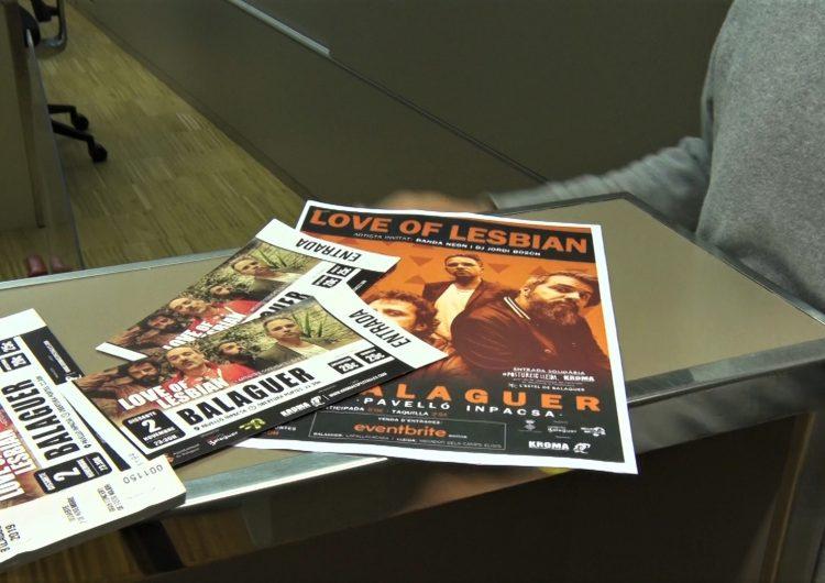 Bon ritme de venda d'entrades per al concert de Love of Lesbian a Balaguer