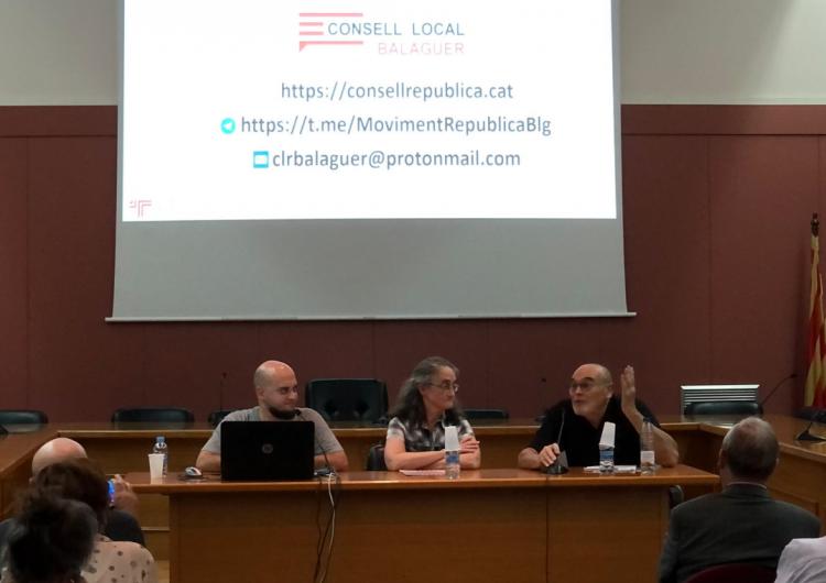 Jordi Romeva presenta el Consell local per la República a Balaguer