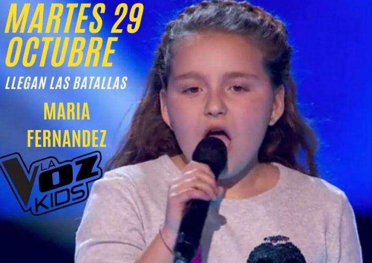 """Maria Fernández torna a actuar aquest dimarts a """"La Voz Kids"""""""