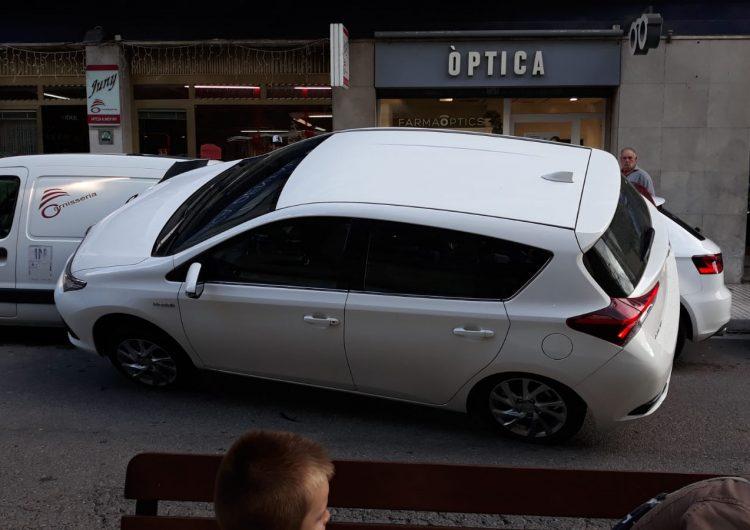 Aparatós accident al passeig de l'Estació de Balaguer