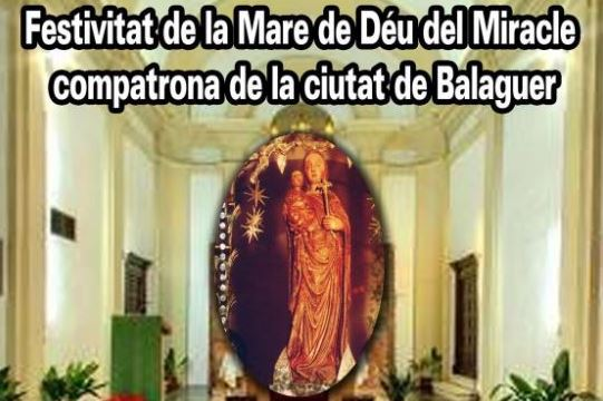 Balaguer celebra aquest diumenge la festivitat de la Mare de Déu del Miracle