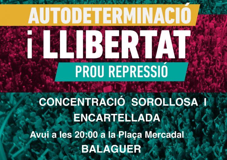 Les entitats sobiranistes convoquen una concentració sorollosa i encartellada aquest vespre a la plaça Mercadal