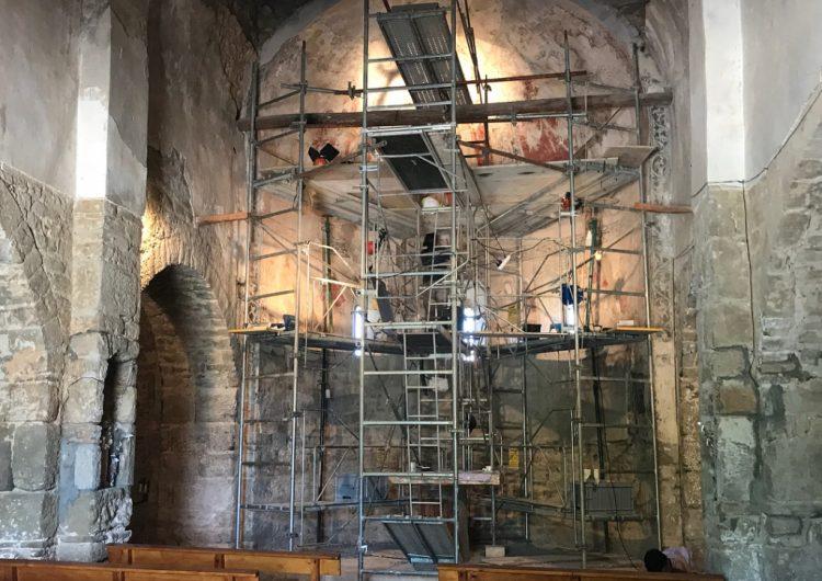 Es presenten els treballs de restauració dels murals de Santa Maria de Palau, a la Baronia de Rialb