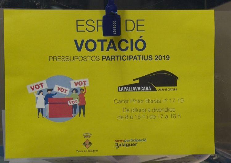 Prop de mig miler de balaguerins ja han votat als primers pressupostos participatius de la ciutat