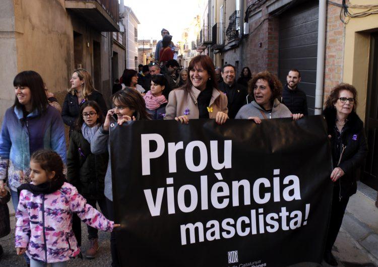 Una vintena de colles geganteres participen en una trobada contra la violència masclista a Torrelameu