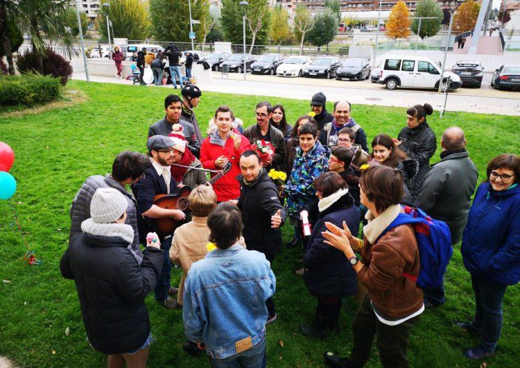 Membres de l'Estel de Balaguer participen en la gravació d'un videoclip de Joan Blau