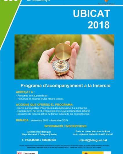 UBICAT 2018 – Programa d'acompanyament a la Inserció.