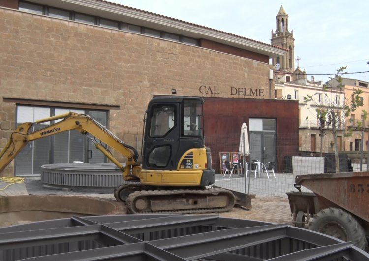 Recta final a les obres dels trulls descoberts davant 'La Fassina' de Montgai