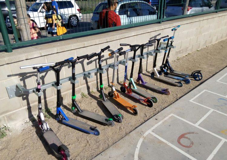 L'escola Mont-roig promou l'ús de mitjans de transport no contaminants com els patinets
