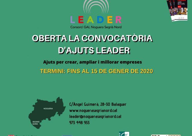 Oberta la convocatòria dels ajuts Leader per a la creació, ampliació i millora d'empreses de la Noguera i el Segrià Nord