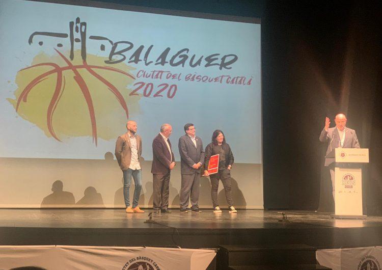 Balaguer rep el relleu com a ciutat del bàsquet català
