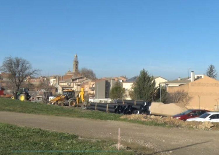 Montgai instal·la una canonada a la nova zona urbanitzable