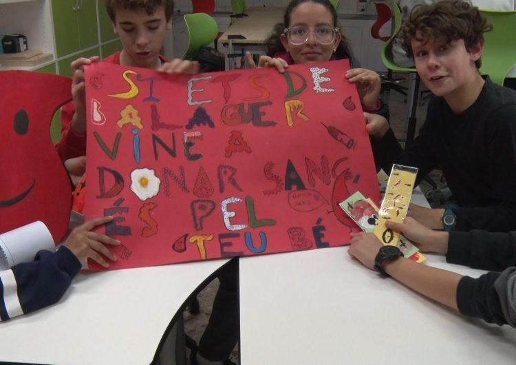 L'Escola Pia realitzarà una campanya de donació de sang preparada pels alumnes