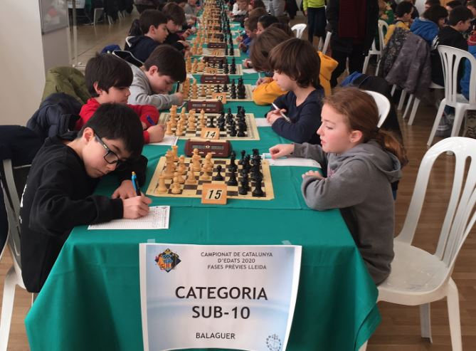 Balaguer ha acollit les fases prèvies del Campionat de Catalunya d'Escacs d'Edats 2020
