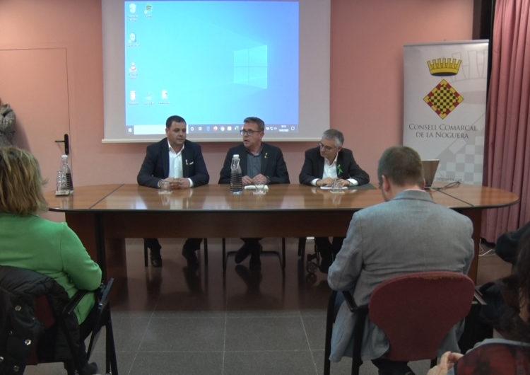 Joan Talarn explica els pressuposots de la Diputació de Lleida a alcaldes i alcaldesses de la Noguera