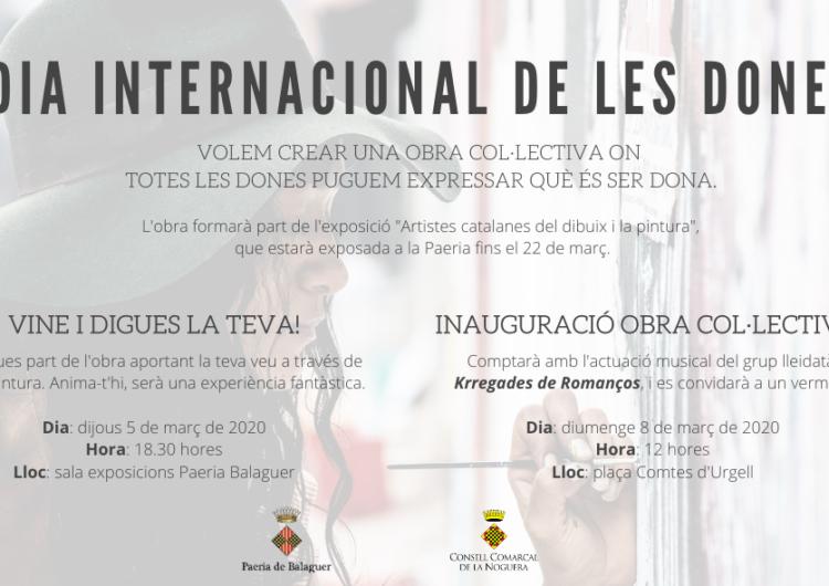 La creativiat, nexe comú dels actes del Dia Internacional de les Dones a Balaguer