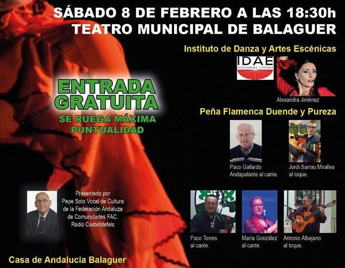 Balaguer celebra aquest dissabte el 6è Festival Flamenco Fusión