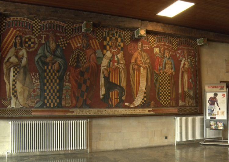 La Paeria de Balaguer restaurarà el mural dels Comtes d'Urgell de l'edifici consistorial