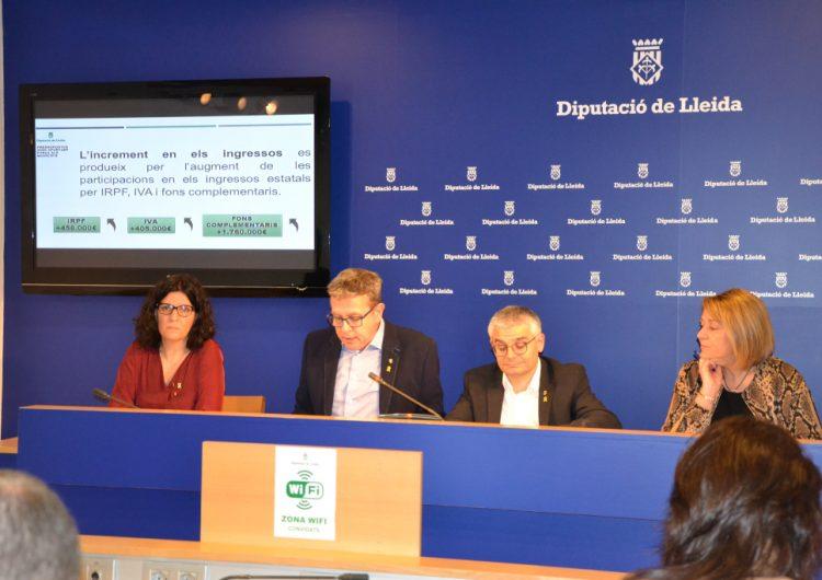 La Diputació de Lleida destinarà a ajuntaments i consells comarcals el 42% de la inversió prevista al Pressupost per a l'any 2020
