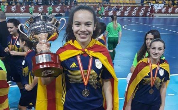 La jugadora balaguerina Carmen Bello, campiona d'Espanya amb la Selecció Catalana