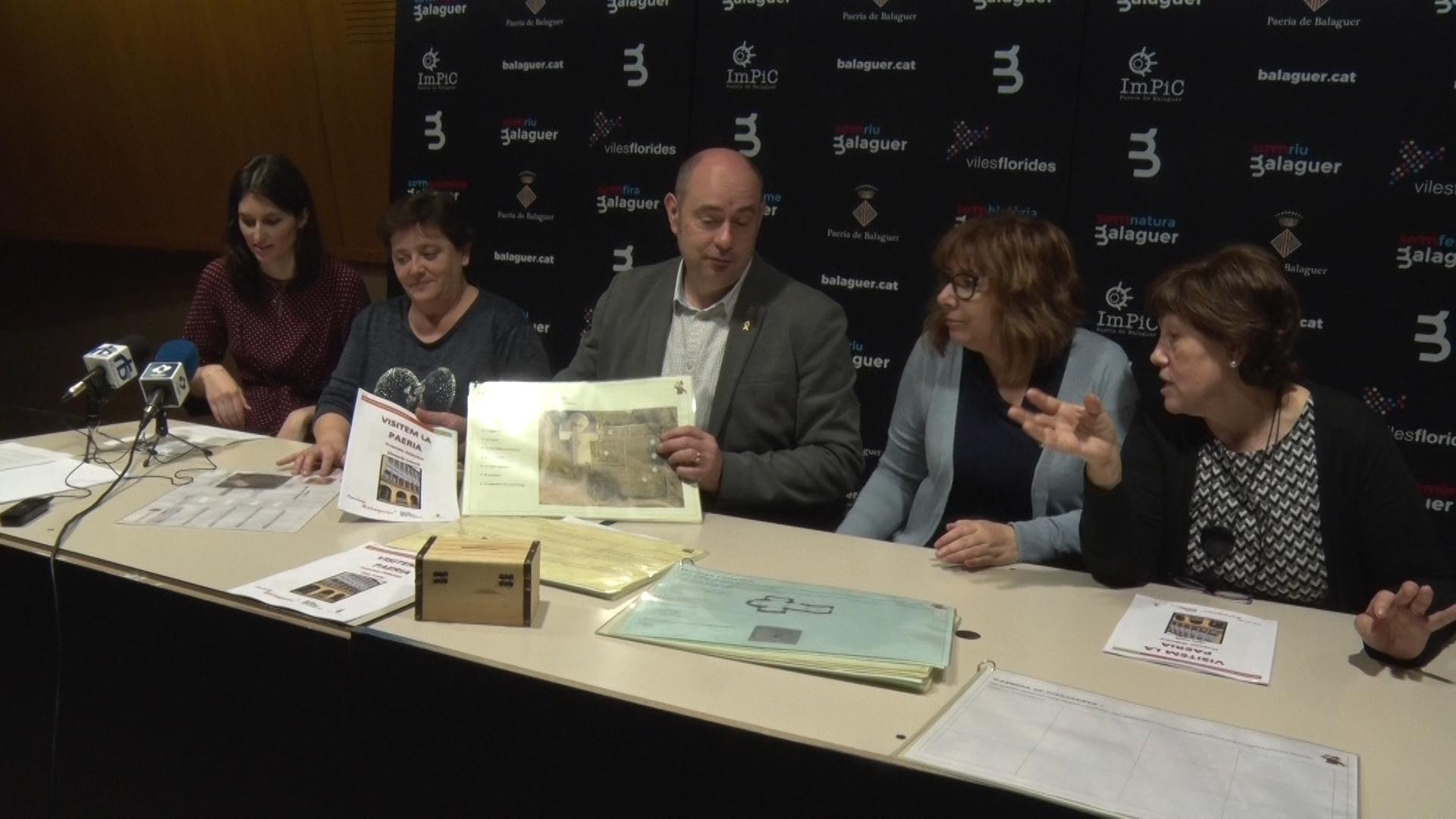 La Paeria i el Centre de Recursos Pedagògics de la Noguera presenten els nous quaderns educatius 'Conèixer Balaguer'