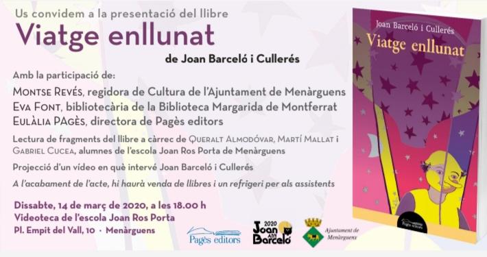 """Menàrguens presenta la reedició de """"Viatge enllunat"""" de Joan Barceló"""