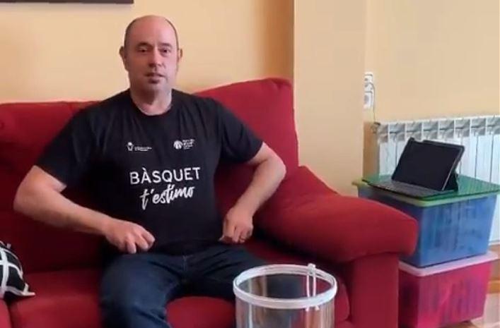 Jordi Ignasi Vidal no s'oblida de la capitalitat del Bàsquet Català tot i el confinament