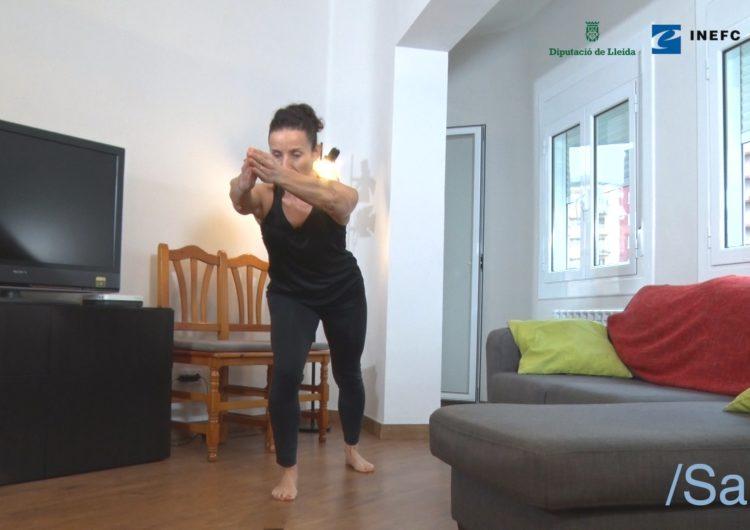Diputació de Lleida, INEFC-Lleida i Salut faciliten exercicis d'activitat física saludable en línia per fer a casa durant el confinament