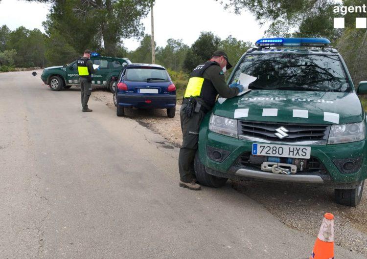 Els Agents Rurals han aixecat més de 300 denúncies des que es va decretar l'estat d'alarma
