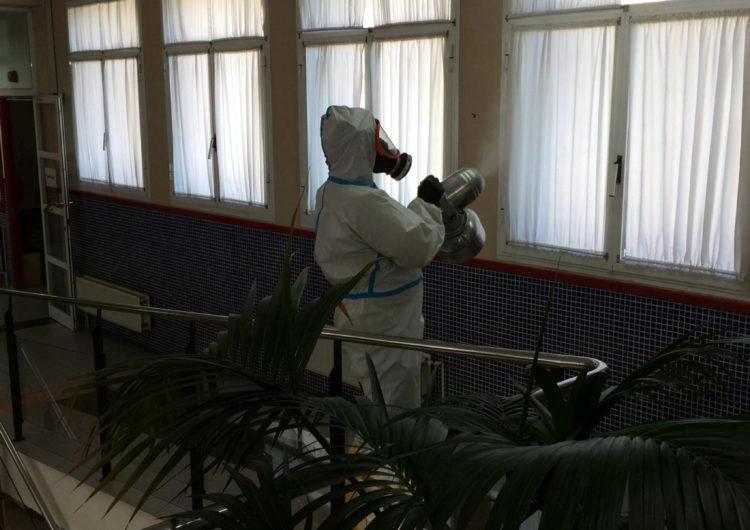 L'Exèrcit desinfecta la residència Comtes d'Urgell de Balaguer, on hi ha més d'una vintena de casos de coronavirus
