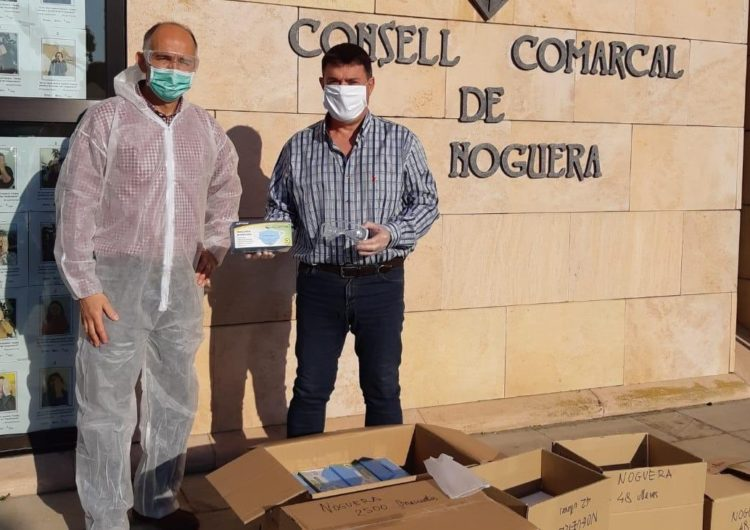 Arriben als consells comarcals lleidatans i al Conselh Generau d'Aran 50.000 mascaretes i 1.200 ulleres de protecció
