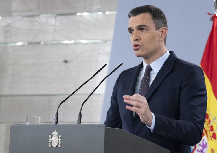 Sánchez anuncia que a partir del 2 de maig es permetrà fer esport al carrer si l'evolució de la pandèmia ho permet