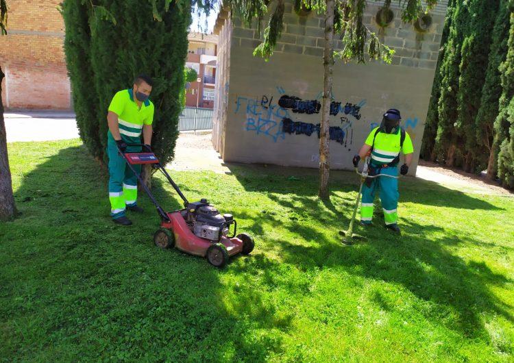 La Paeria de Balguer reprèn les tasques de jardineria que van quedar suspeses per l'estat d'alarma
