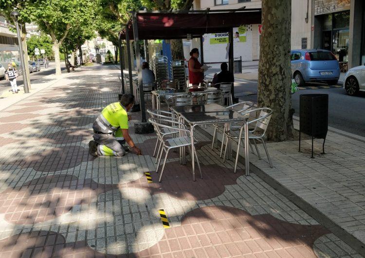 La Paeria de Balaguer delimita les distàncies de seguretat a les terrasses