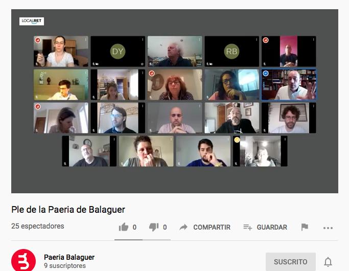 Regidors de Balaguer de diferents grups aportaran una part de les seves retribucions a un fons solidari