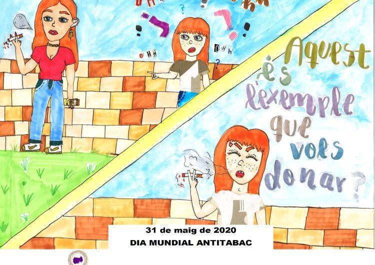 Una alumna de 6è de primària de Camarasa guanya el IV Concurs de Cartells Antitabac