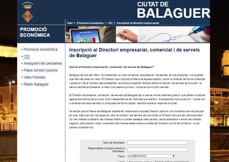 La Paeria de Balaguer accelerarà el pla de digitalització del comerç