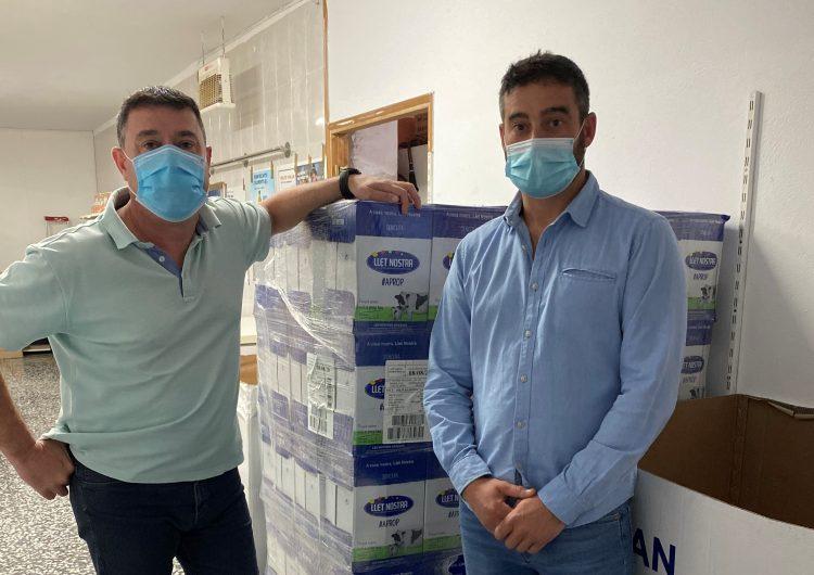 Llet Nostra dona productes a ÀGAPE Aliments Solidaris de la Noguera