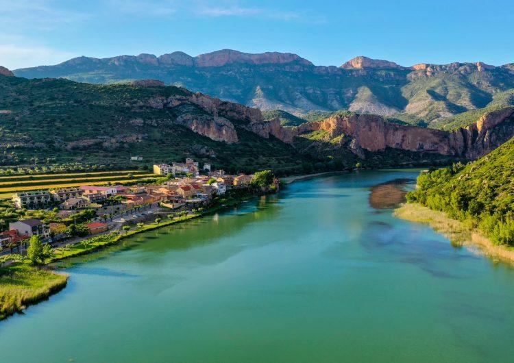 El pantà de Sant Llorenç a vista de dron