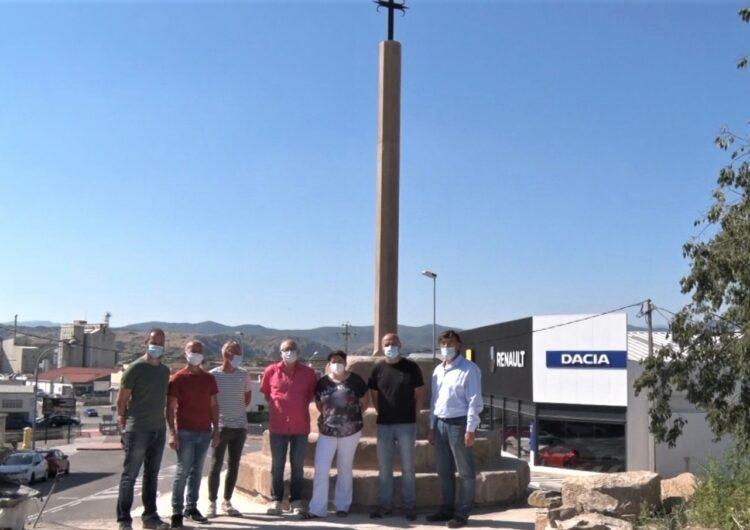 Vallfogona de Balaguer inaugura la creu de terme restaurada recentment