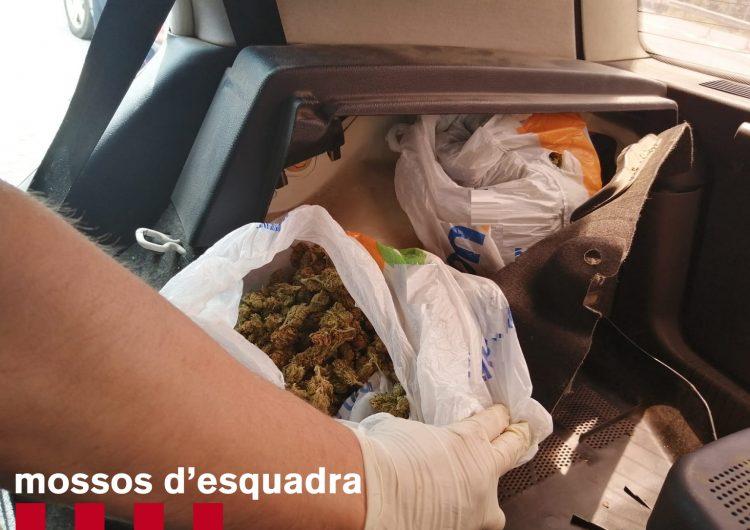 Els Mossos detenen a l'Alta Ribagorça un veí de Balaguer de 48 anys després de trobar-li gairebé 400 grams de marihuana