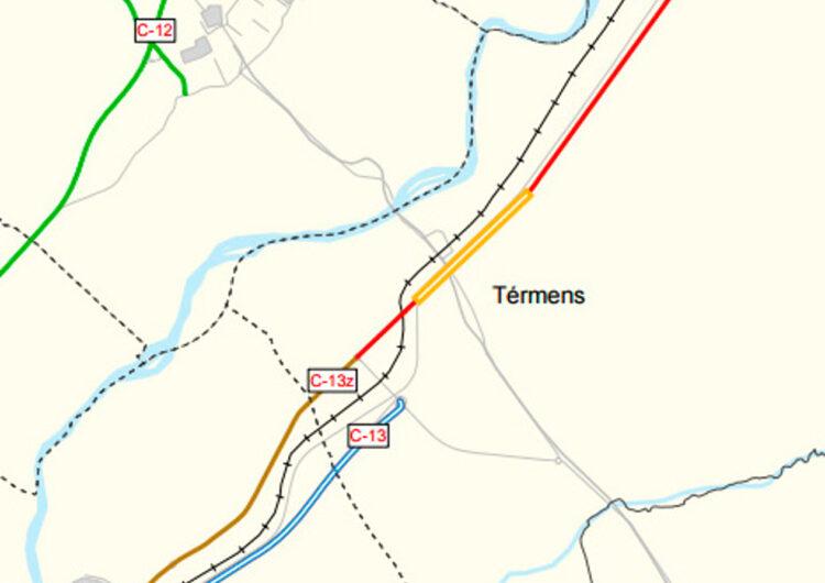 Territori impulsa el projecte de millora del ferm i ordenació d'accessos a la travessera de la C-13 a Térmens